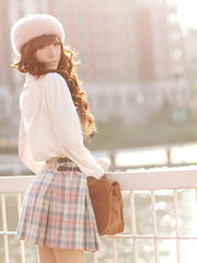 punctual in plaid skirt