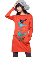 tweet tweet sweater dress