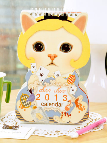 Korean princess cat desk calendar 2013