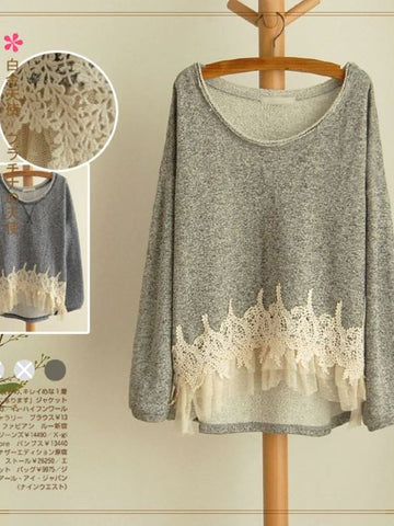 sweet lace pullover