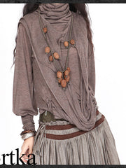 Sahara crazy drape top