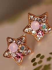 sparkling fireworks star shaped earrings