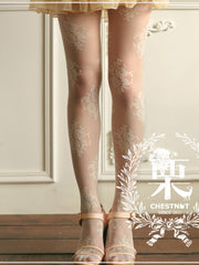 retro palace lace pantyhose