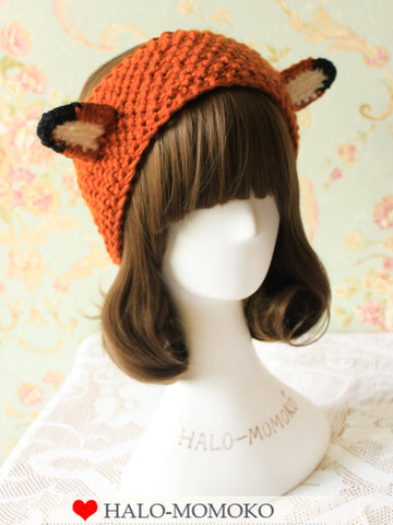 knitted headband with standing ears