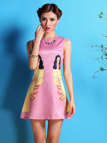 splendor in satin printed dress