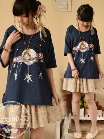 space journey short sleeve top