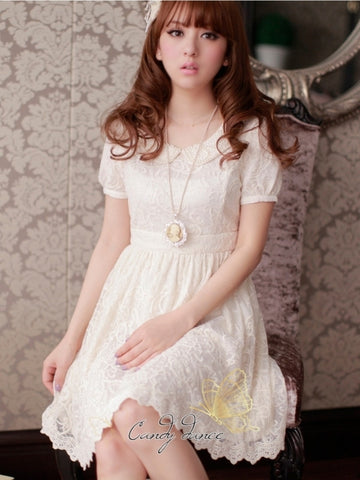 porcelain doll laced dress