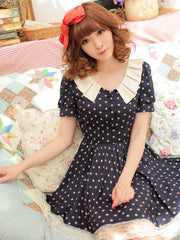 harajuku polka dot dress