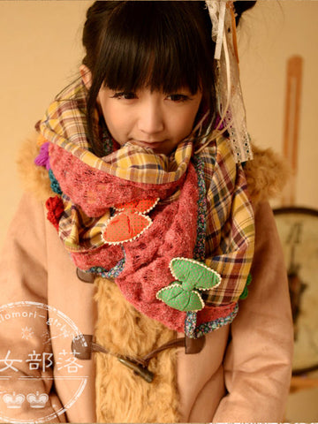 lovely bows and flowers long scarf