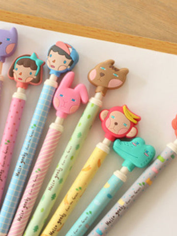 Korean cartoon ball pen (set of 3)