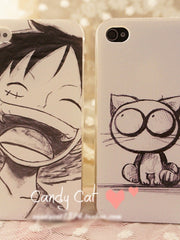 hand-drawn cartoon iPhone case