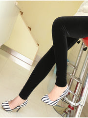 Clearance - black velvet leggings