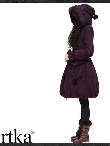 queen plum coat