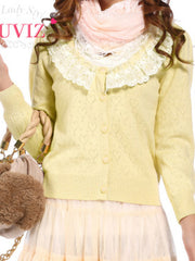 lace heart shape cardigan