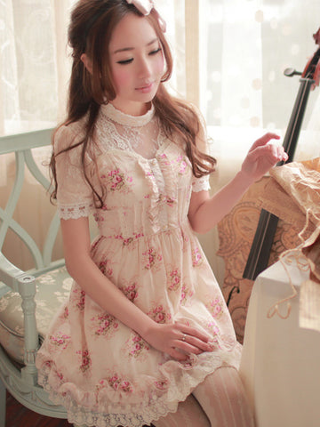 pink rose day dress