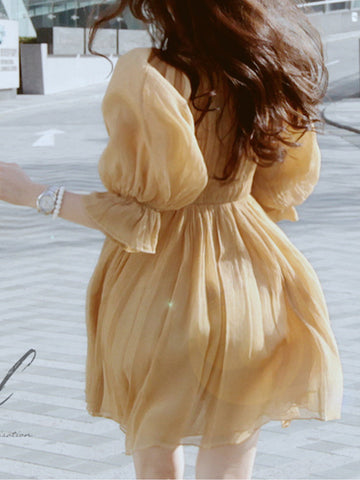 romantic elegance chiffon dress