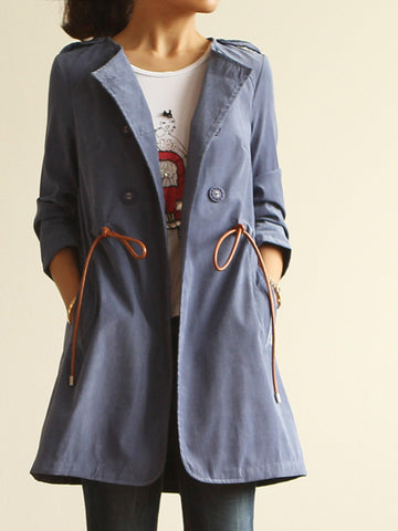 leather rope trench coat