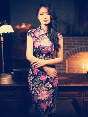 Clearance - retro Chinese style Chi-Pao dress