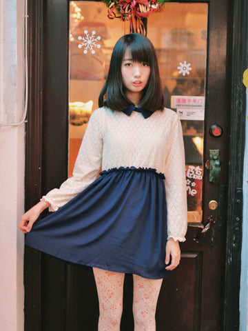 vintage fever long sleeves dress