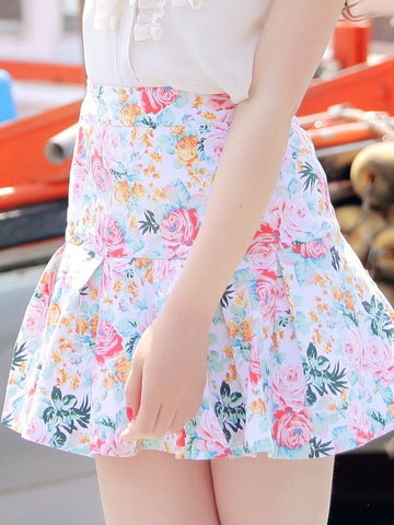 bright bouquet skirt