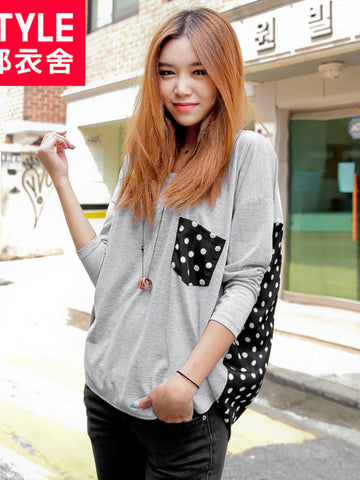 polka dots asymmetric top