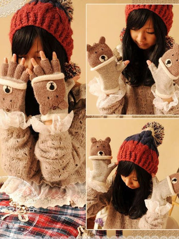 luxury little animals mittens
