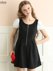 retro village zipper dress