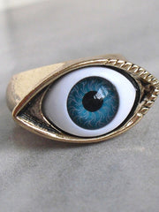 mysterious eye shape rings