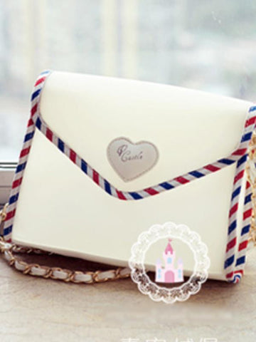 Harajuku love letter transparent envelopes shoulder bag