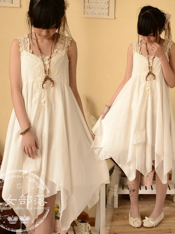 folk strap fairy dress