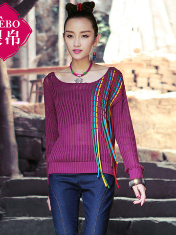 swing four-color sweater
