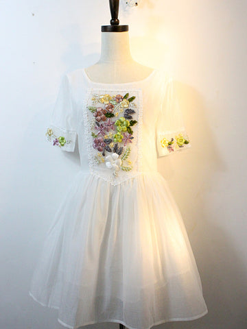 tea party embroidered princess dress