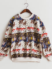 fox and night sweatshirt