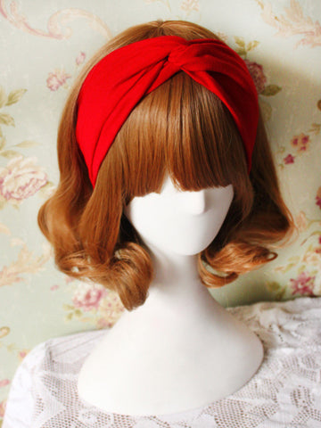 little red crisscross headband
