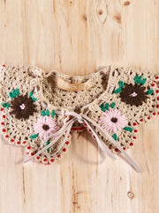 sunset  flower vintage crochet collars