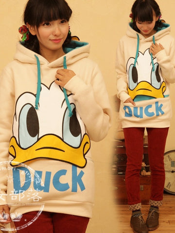 cartoon duck girl hoodie