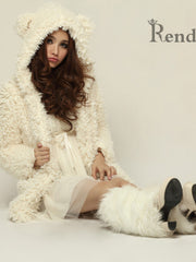 Princess teddy hooded jacket