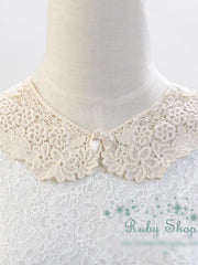 retro girl crocheted collar