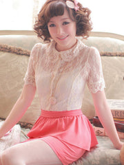 spring doll sheer lace shirt