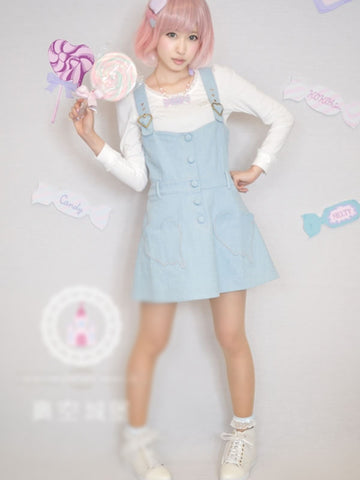 candy heart adjustable strap dress