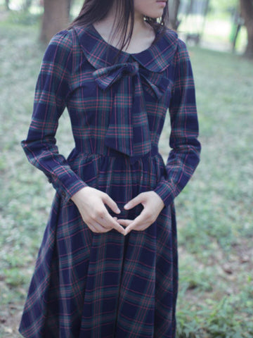 scottish green cotton dress