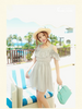 getaway flouncing pearl dress
