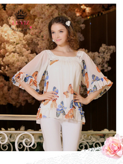butterfly brigade blouse
