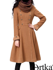 vintage military heroine brown coat
