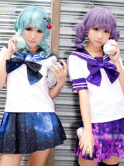 starry sky sailor top (short sleeve)