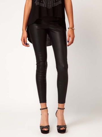 Clearance - skinny punk leather leggings
