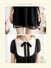 scholarly chiffon bow dress