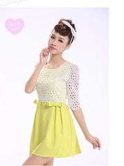 sunny daisy crochet lace dress