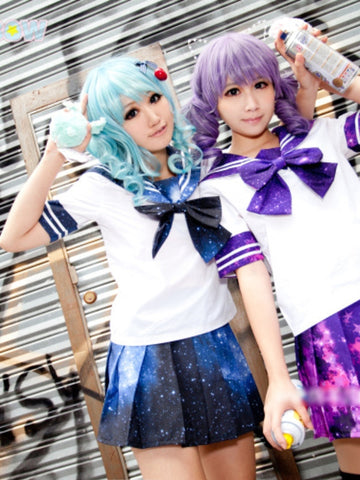 starry sky sailor skirt