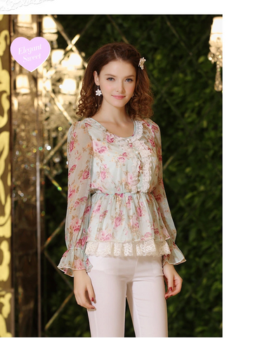 wild blossoms lace blouse